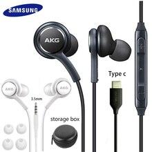 Samsung AKG EO IG955 kulaklık 3.5mm/tip c In kulak Mic kablolu kulaklık Galaxy S20 note10 s10 S9 S8 S7 S6 huawei akıllı telefon