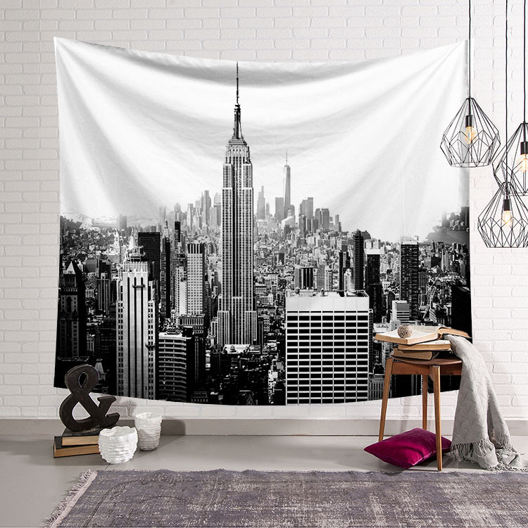 Metropolis New York Empire State Building Art High Definition Decorative Tapestries Room Tapestry Wall Hanging Home Decor Gift