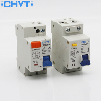 цена на DZ30LE TPNL DPNL 230V 1P+N Residual current Circuit breaker with 10A 16A 20A 32A current Leakage protection RCBO RCCB ELCB MCB