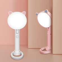 LED Makeup Mirror With Light USB Rechargeable Table Lamp Student Learning Eye Protection Small Table Lamp Makeup Mirror rechargeable motion sensor light mirror led makeup mirror rotation infrared induction makeup mirror battery operated or usb ca