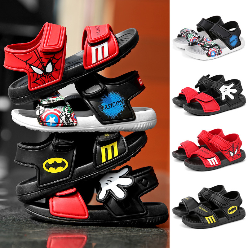 2020 Summer Baby Boy Sandals Children Sandals For Girl Boy Batman Spiderman Sandals Summer Girls Shoe Beach Shoe Camo Boy Shoes