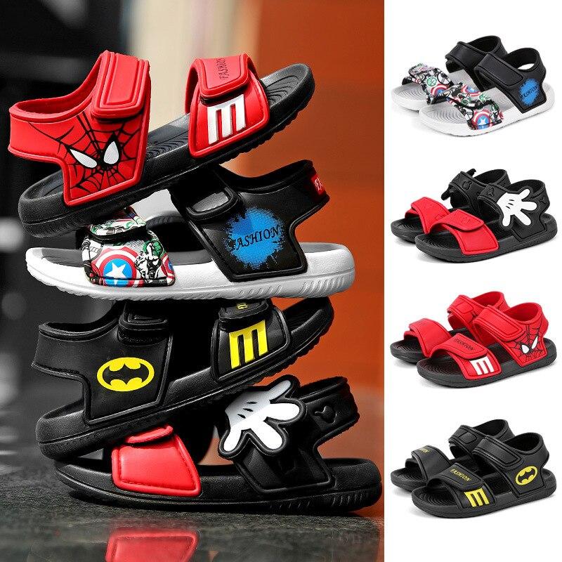 2020 Summer Baby Boy Sandals Children Sandals For Girl Boy Batman Spiderman Sandals Summer Girls Shoe Beach Shoe Camo Boy Shoes