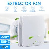 18W 220V 6inch Exhaust Fan Low Noise Ventilator Fan Home Bathroom Kitchen Bedroom Toilet Hotel Wall Silent Extractor Exhaust Fan