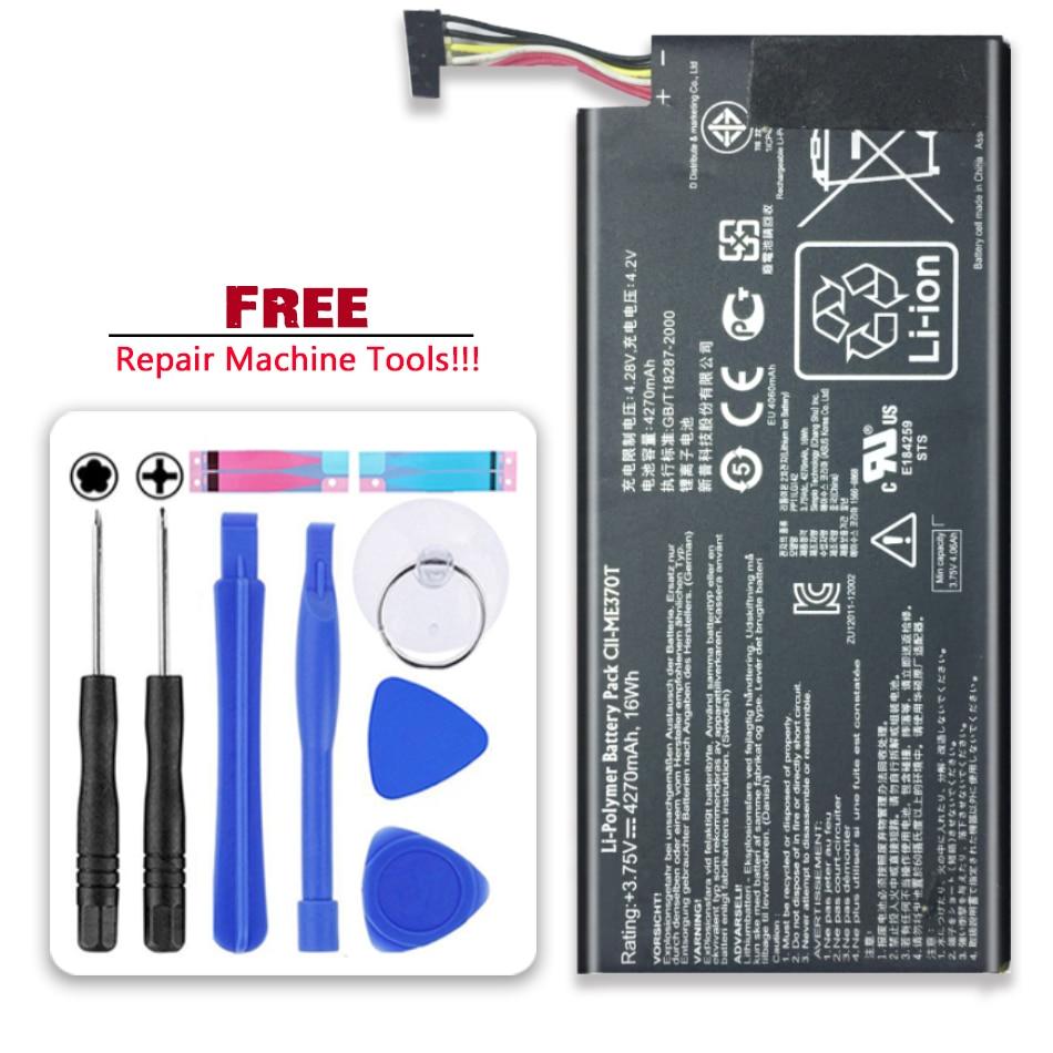 For Asus Google Nexus 7 Nexus7 2012 Wifi Version Li-polymer Battery C11-ME370T 4270mAh  Tab Replacement Battery
