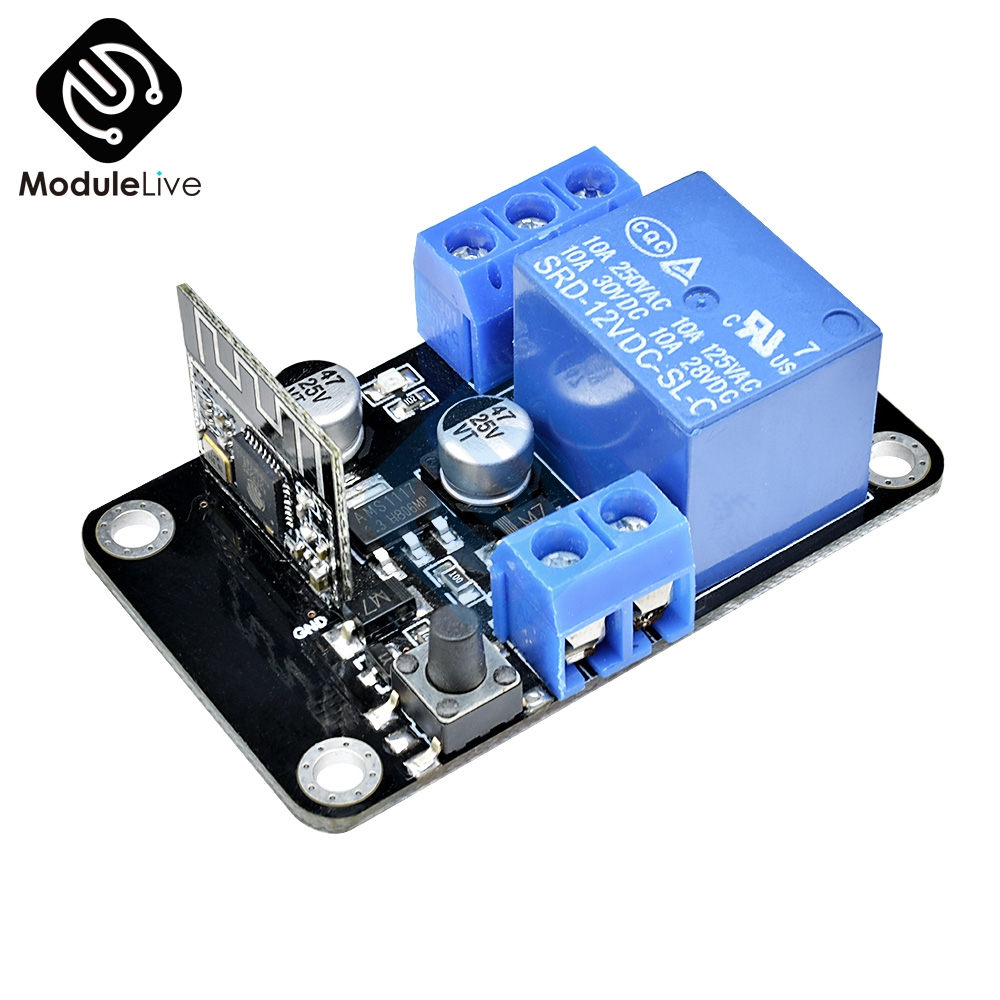 DC 12V ESP8265 WiFi Wireless Switch Cycle Time Timer Delay Relay Module For IOS Smart Home For Android App Control Self-lock image
