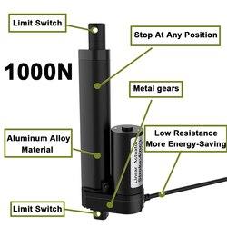 12V Linear Actuator 50mm 100mm 150mm 200mm Stroke Linear Drive Electric Motor Linear Motor Controller 100/200/300/500/700/1000N