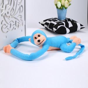 Image 5 - 60cm engraçado macaco animal mãos longas boneca macio de pelúcia brinquedo do bebê carrinho de criança brinquedos de dormir bonecas recheadas crianças presente