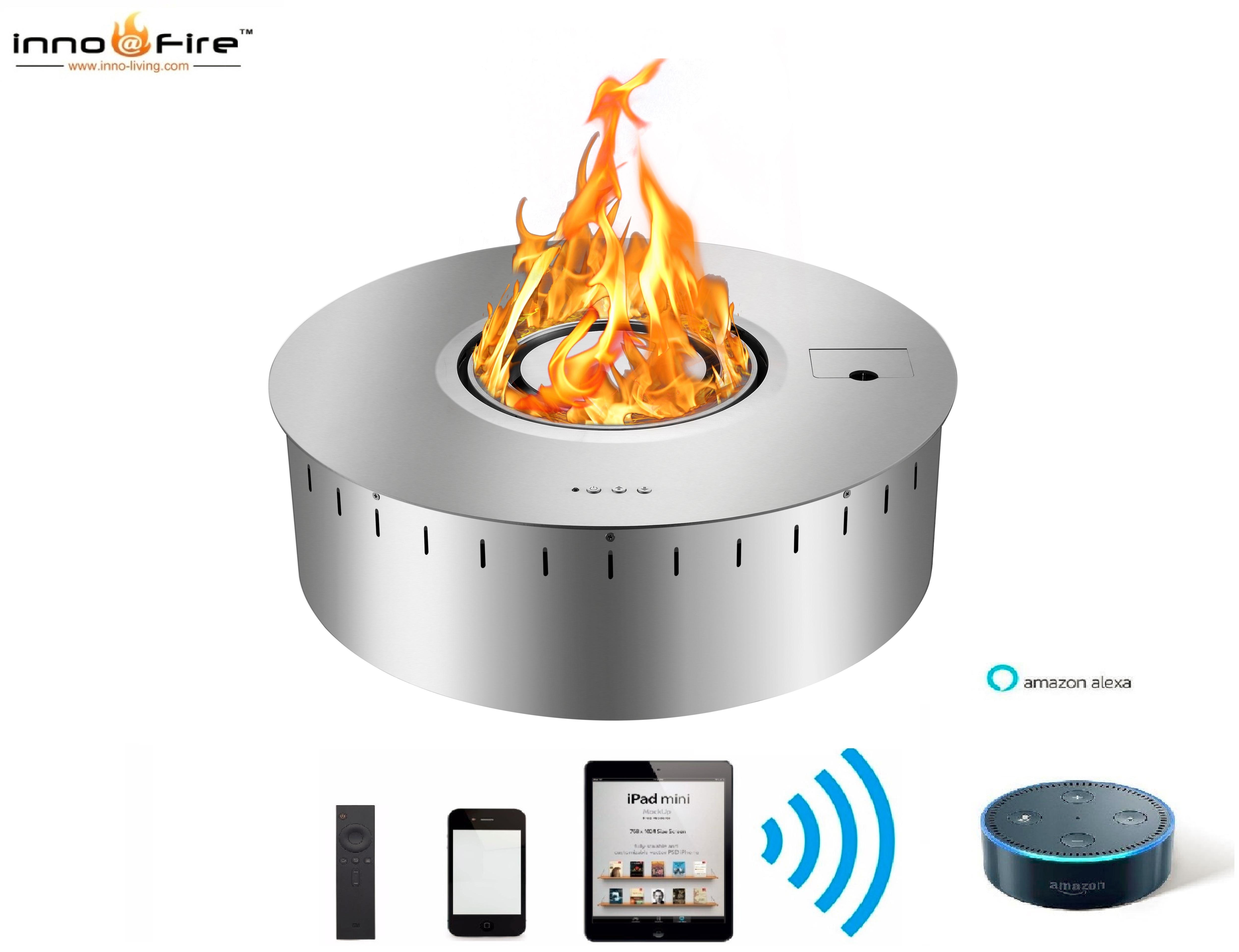 Hot Sale Round Bio Ethanol Fireplace Stainless Steel Fireplace Burner