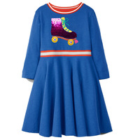 Toddler Girl Dresses with Sequined Long Sleeve Autumn Winter Kids Princess Dress Baby Girls Clothes Children Party Dresses 2-7Y