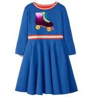Vestidos da menina da criança com lantejoulas manga longa outono inverno crianças princesa vestido de bebê meninas roupas crianças vestidos de festa 2-7y