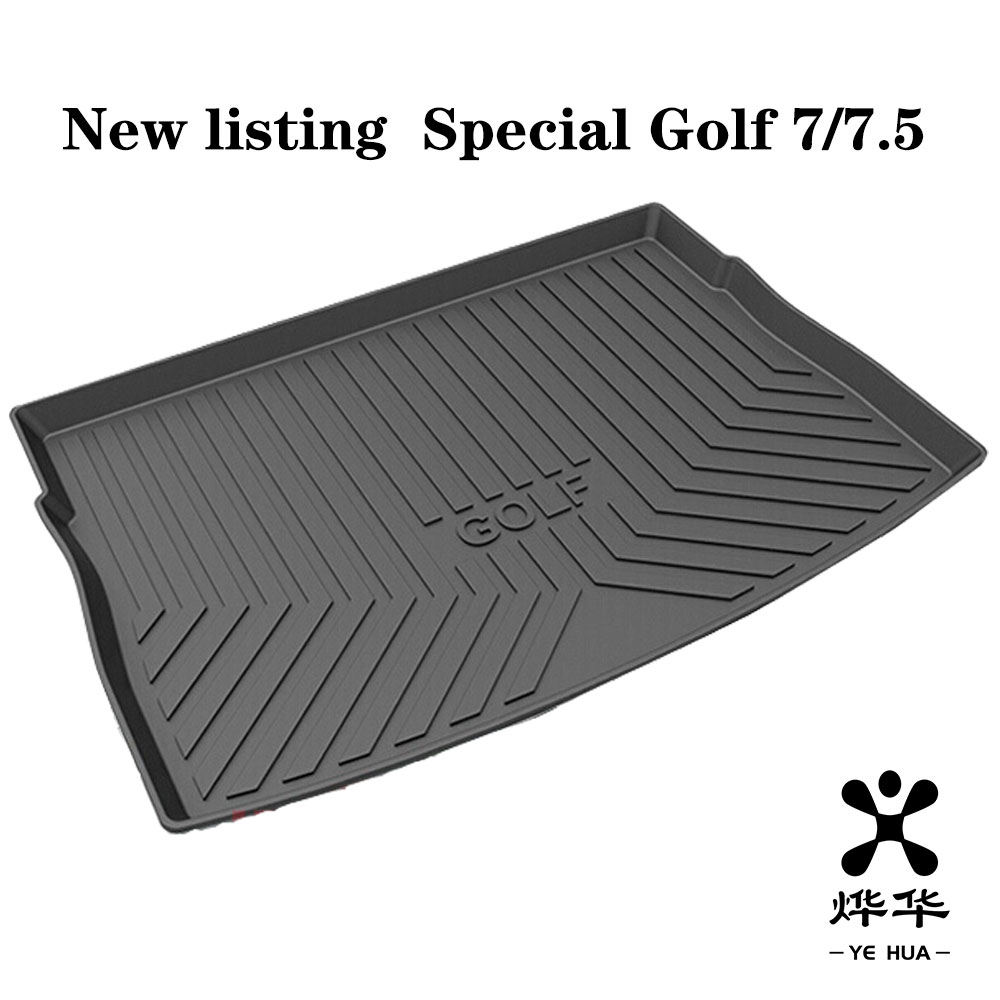Black Heavy Duty Cargo Floor Mat-All Weather Trunk Protection, Durable HD TPO Fit For VW Volkswagen Golf Sportsvan&Golf MK7/7.5