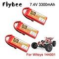 1-5 шт. для Wltoys 144001 автомобиль 2s 7,4 в 3300 мАч литий-полимерная батарея T Plug для Wltoys 1/14 144001 Радиоуправляемый автомобиль 7,4 В для Wltoys гоночная батар...