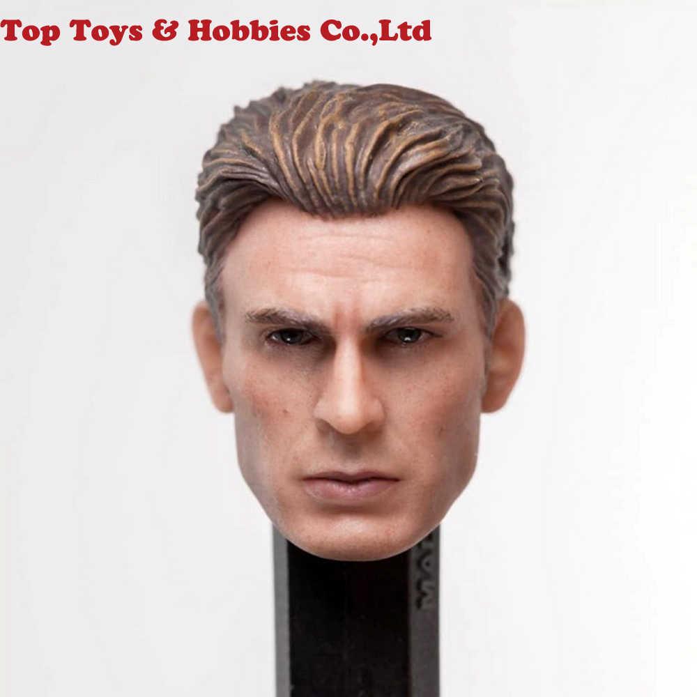 1/12 Капитан Америка Steve Rogers голова скульптура подходит для SHF 6 ''экшн-игрушки; Железный человек Tony Stark фигурка модель аксессуар
