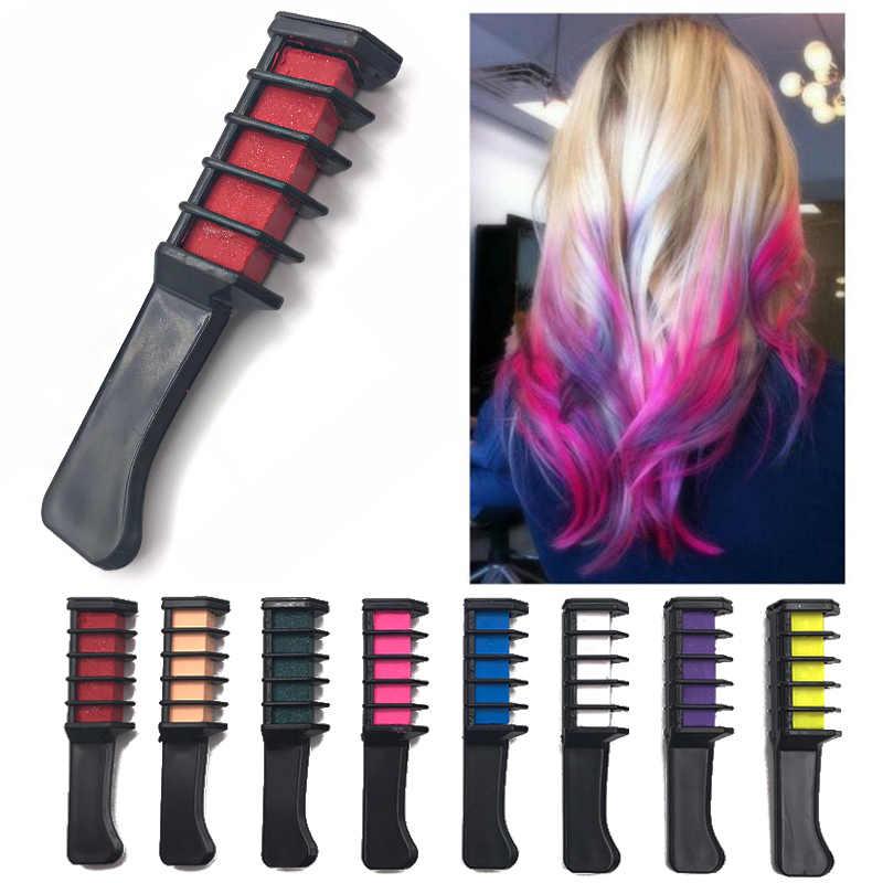 สีชอล์กชั่วคราวสีหวีดินสอสีผมสีย้อมสี Salon Beauty Dye Hair Care เครื่องมือจัดแต่งทรงผมชุด Party แฟนชุดคอสเพลย์