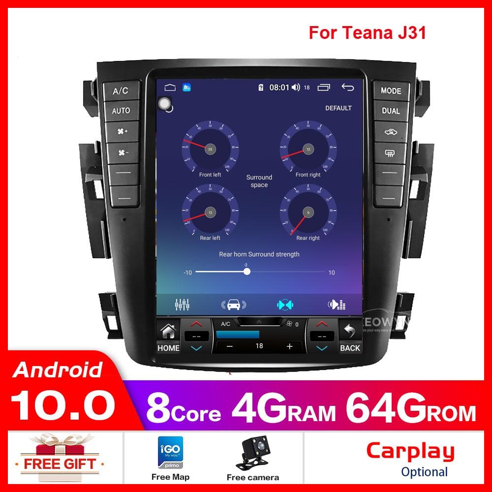GPS Android 8.1 230JK Teana J31 Car-Radio Qcta-Core 2003 2007 for S7 Samsung