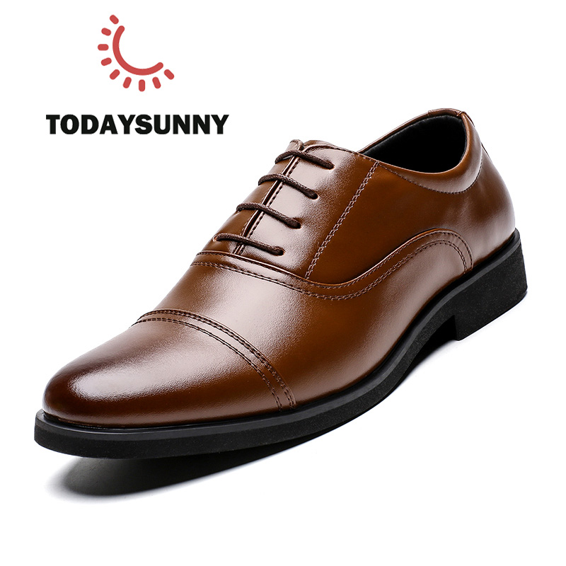 Men Oxford Business Casual Men Genuine Leather Shoes Male Shoes High Quality Pointed Leather Dress Shoes For Men Loafers Flats
