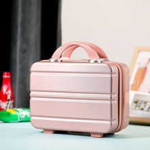 2021 New Design 14 Inch Suitcase Sweetie Colors For Women High Quality Travel Makeup Cosmetic Case Mini Luggage Makeup Bags