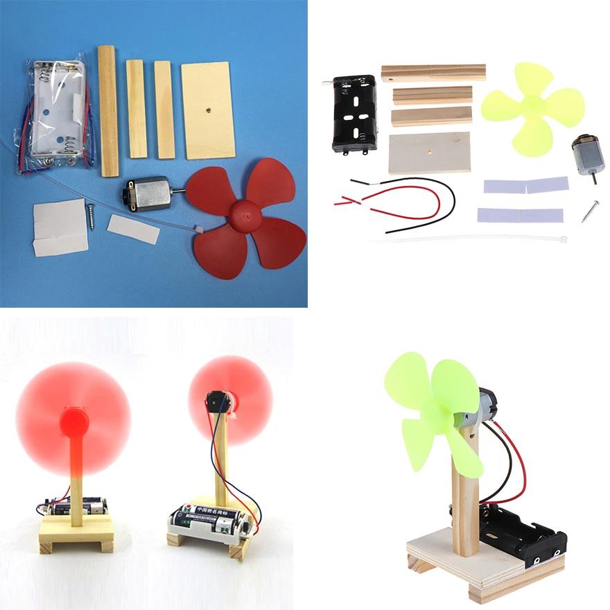 Горячая DIY электрический вентилятор модель комплект Дети Игрушки для научного эксперимента школы проект детского сада Творческий Собранны...