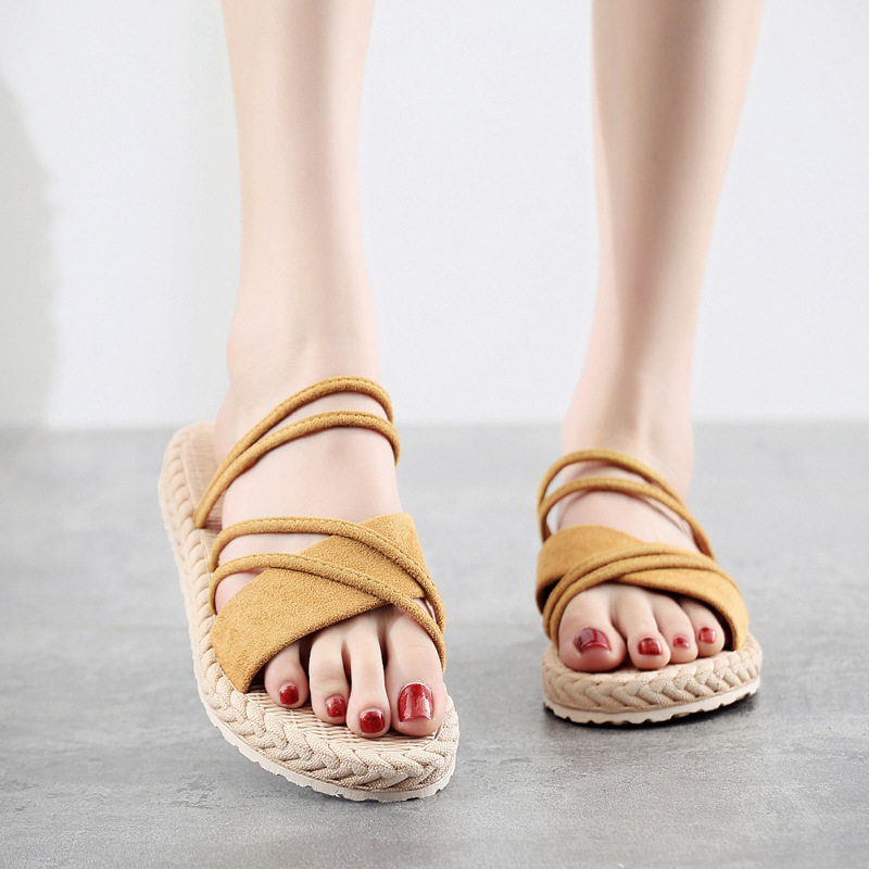 New-2020-Women-Summer-Shoes-Weave-Slippers-Woman-Casual-Fashion-Ladies-Flat-Home-Indoor-Slippers-Slides (4)
