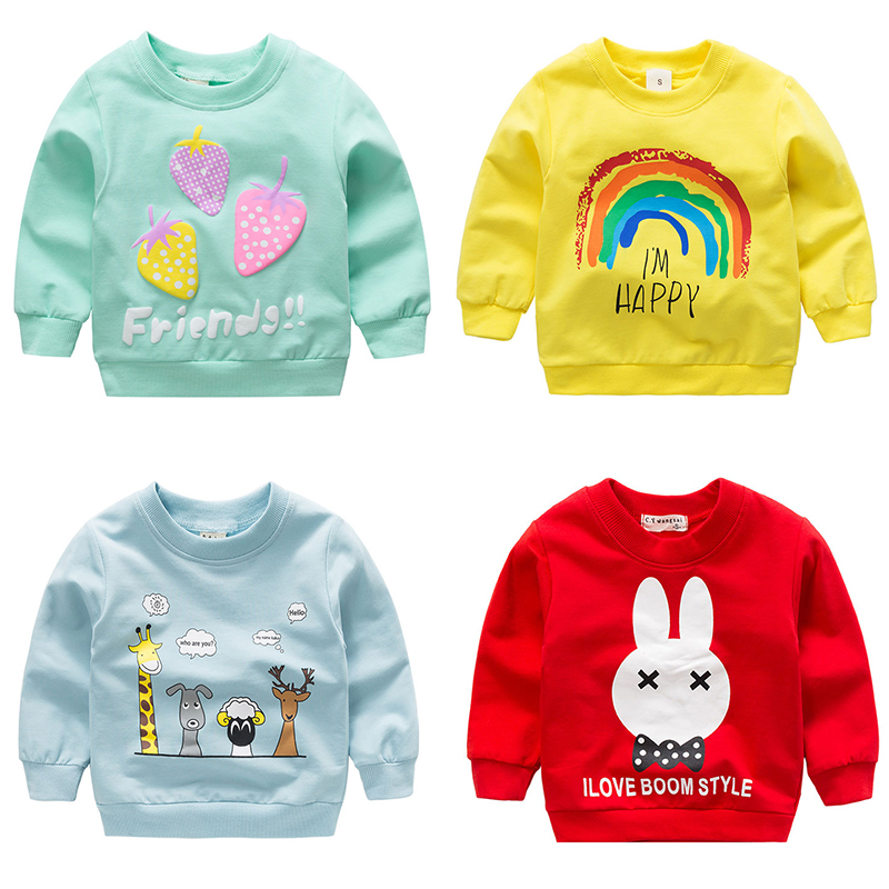 Baby Girls Toddler Sweatshirts 2019 Winter Spring Autumn Children Hoodies Long Sleeves Sweater Kids Pullovers Kids Outerwear