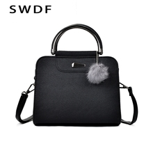 SWDF New Women Mini Small Square Pack Shoulder Bag Hairball Crossbody Package Cl