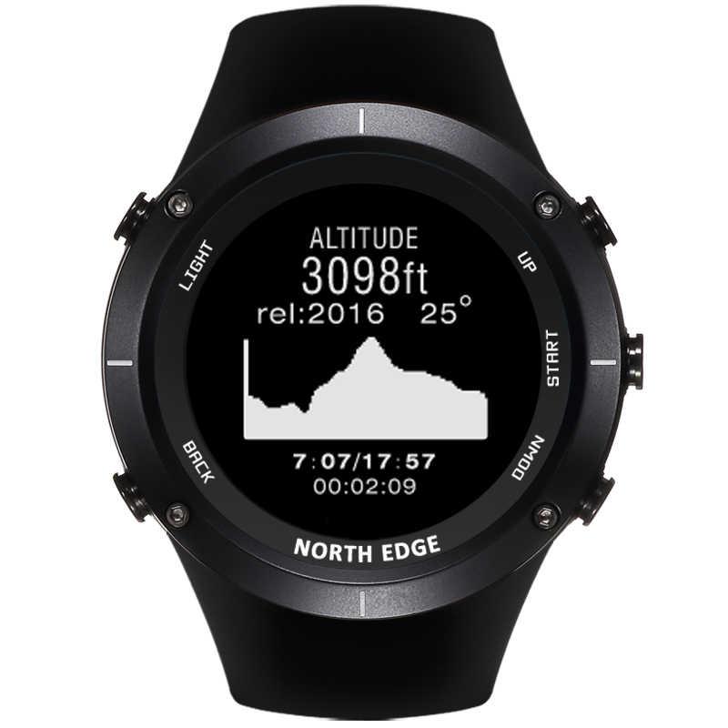 北エッジ男性のスポーツデジタル腕時計 GPS 心拍稼働水泳時計高度計バロメーターコンパス温度計歩数計
