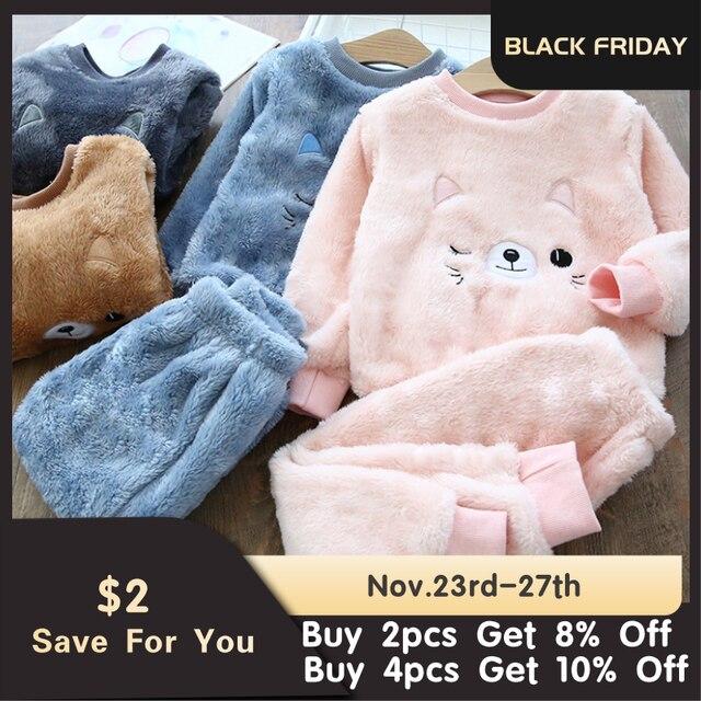 Fleece Animal Print Pajamas 1