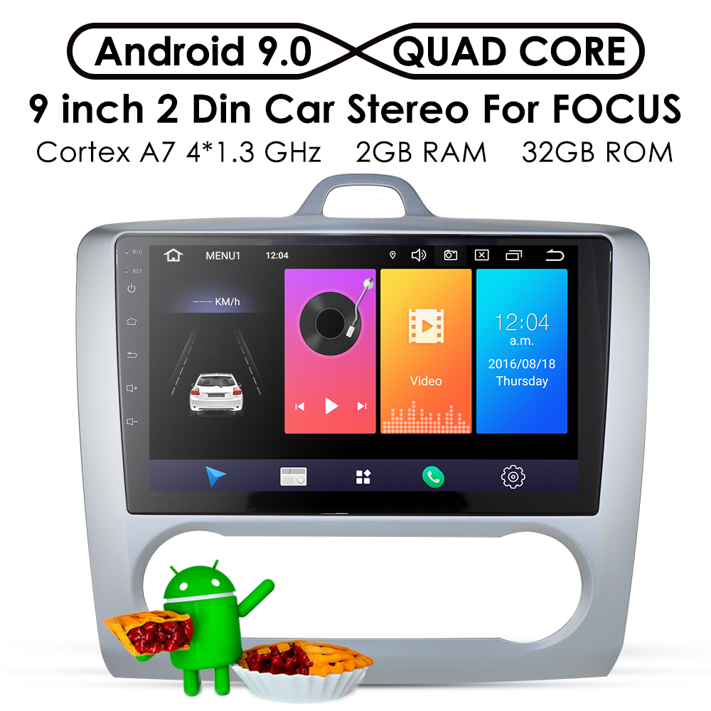 2G+32G Android 9.0 DSP Car Radio Multimedia Video Player Navigation GPS For ford focus 2 3 Mk2/Mk3 hatchback 2 din DVD Exi AT MT(China)