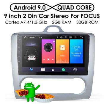 2G + 32G Android 9,0 DSP auto Radio Multimedia Video Player navegación GPS para ford focus 2 3 Mk2/Mk3 hatchback 2 din DVD Exi en MT