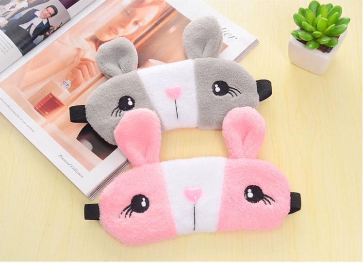 Relaxing Cooling Cute Rabbit Sleeping Eye Sleep Masks Silk Gel Shade Eyepatch Eye Mask / By Dhl 100pcs SN272