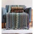 Вязаное одеяло WOSTAR в скандинавском стиле с кисточками, элегантные женские пляжные полотенца для улицы, модная накидка, портативное одеяло, ...