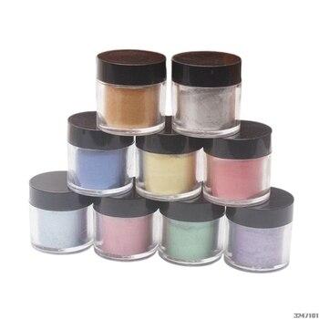9 unids/set mica perlada pigmento perla polvo UV resina cristal epoxi manualidades fabricación de joyas Slime Toning Color resplandeciente brillo