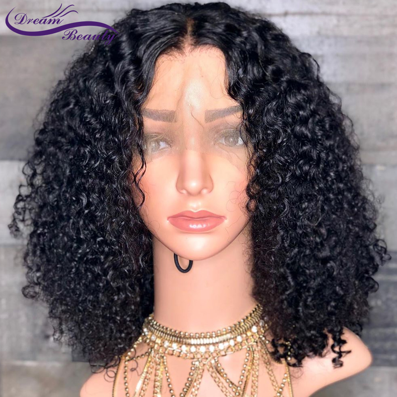 13x4 Curly Lace Front Human Hair Wigs Pre Plucked Hairline Brazilian Non-Remy Hair Lace Wig With Baby Hair Dream Beauty