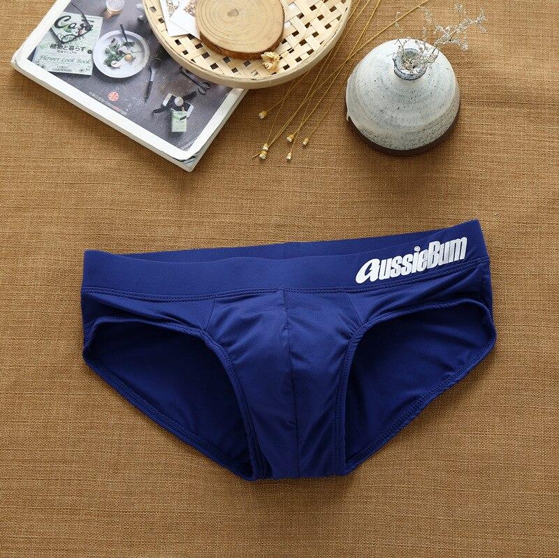 Men's Aussiebum briefs with milk silk low waist stretch stereo bag fit comfortably 3