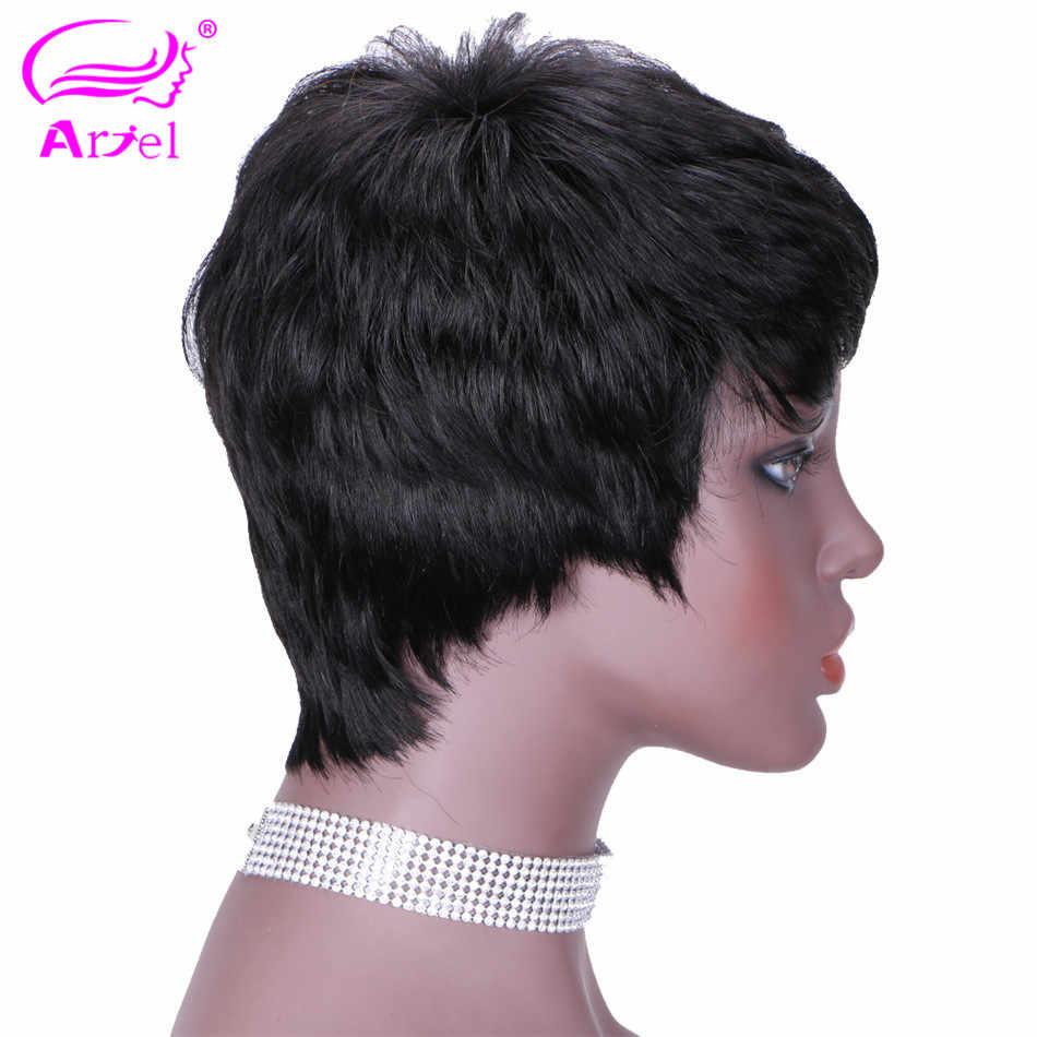 Ariel Mongolia Rambut Manusia 360 Renda Frontal Rambut Non Remy Warna Natural dengan Bayi Rambut Digunakan Dipetik Langsung 130% kepadatan