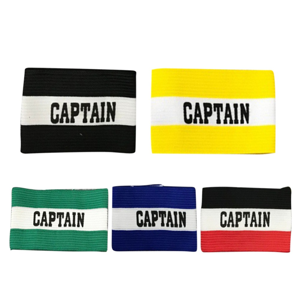 Football Training Supplies Captain Armband Good Elasticity Ventilation Football Armband 5 Colors Durable Not Deformed Practical