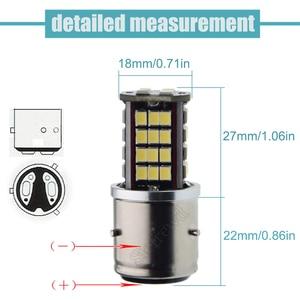 Image 3 - 1Pcs BA21D 30SMD LED אופנוע אופנוע פנס הנורה Hi/Lo Beam רכב אוטומטי קטנוע טוסטוס טרקטורונים ראש אור גלוב לבן 6V 12V DC