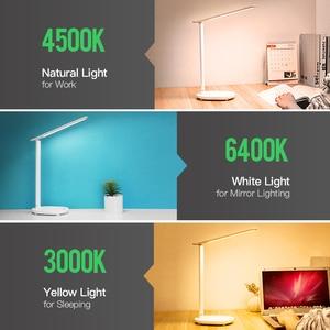 Image 4 - Kademesiz kısılabilir masa okuma lambası katlanabilir dönebilen dokunmatik anahtarı LED masa lambası USB şarj aleti şarj edilebilir pil gece lambası