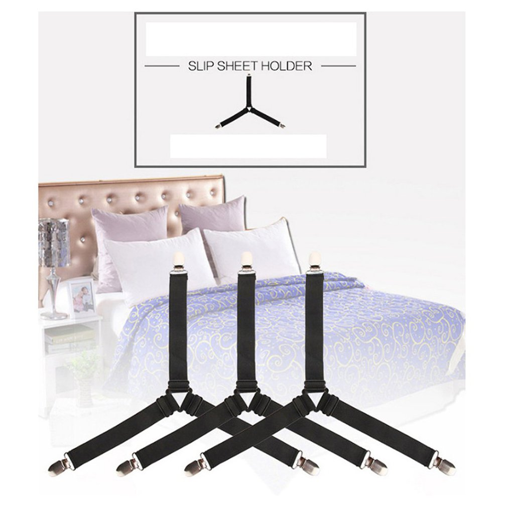 Adjustable Sheet Holder Three-Position Clips Bed Cover Elastic Buckle Tablecloth Anti-Skid Holders Set Of 4