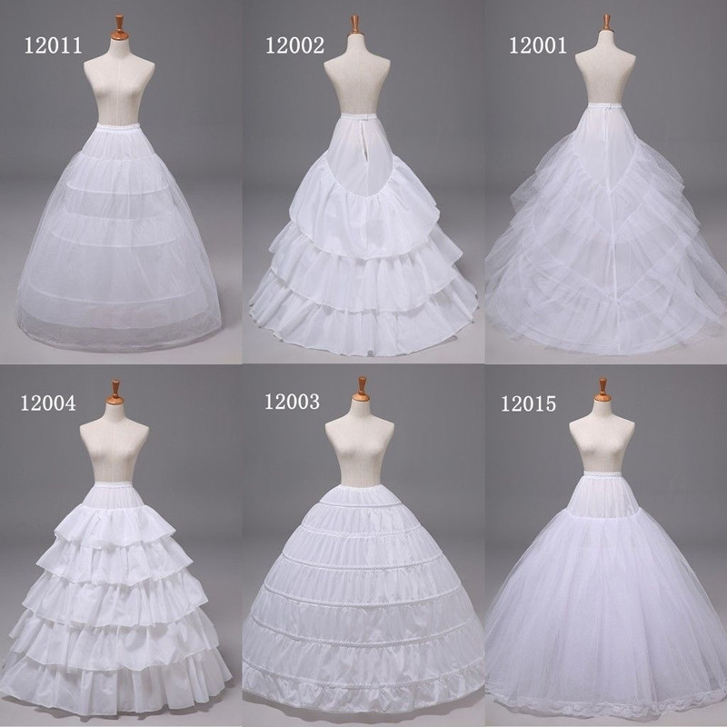 White Wedding Accessories Ball Gown Layers Tulle Petticoat Crinoline Cancan Skirt Waist Adjustable