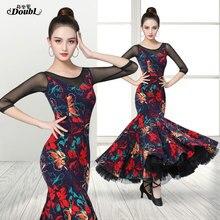 Modern Dress Clothing Waltz Ballroom Dance Practice Women's DOUBL Suit Fit Party Brand