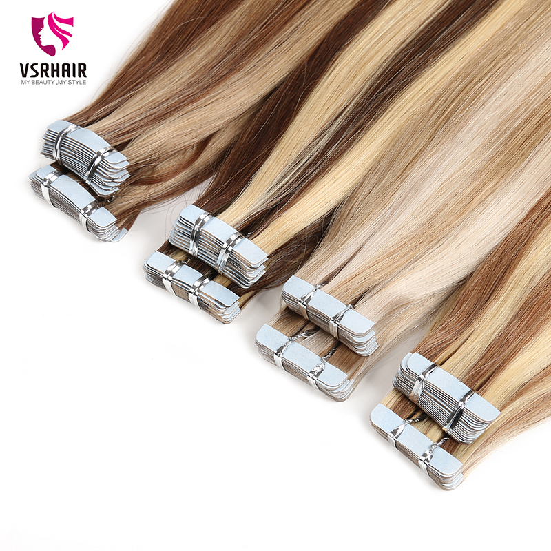 VSR Invisible Strong Adhesive Tapes Skin Weft Real Human Hair  Tape In Hair Extension