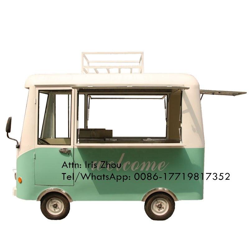 Suministro de Café móvil camión de comida rápida, carrito de comida móvil camión eléctrico de alimentos para la venta