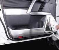 Fit for Toyota Land Cruiser Prado 2010 2019 Car Inner Door Protector Cover Anti kick Pad Speaker Frame Trim Strips Accessories