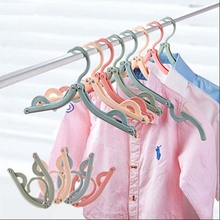 1PC Adjustable Fold Hang Plastic Hook Portable Hanger Clothes Pegs Travel Space Saving Wardrobe Cloth Foldable