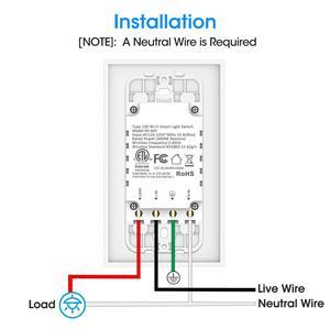 Image 2 - Smart WiFi Licht Touch Wand Schalter UNS Interruptor Drahtlose Elektrische Voice Control Fernbedienung durch Tuya Smartlife Alexa Google Hause