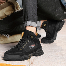 Shangfandeng Super Warm Winter Men Boots Genuine Leather Shoes Military Fur *7591