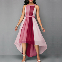 High Waist Party Long Dress Women 2019 Asymmetrical Sexy Sleeveless Off Shouder Chiffon Dresses Plus Size Maxi Dress цена 2017