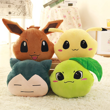 Creative Hand Pikachus Soft Pokemons Pillow Snorlax Jigglypuff Eevee Plush Toy Office Anime Stuffed Doll Christmas Gifts For Kid