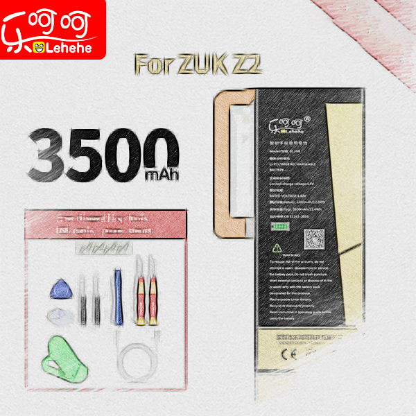 Lehehe BL268 Battery For ZUK Z2 High Capacity  3500mAh Lithium-ion Polymer Replacement Battery With Free Dismantling Tools